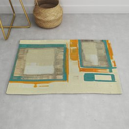 Mid Century Modern Blurred Abstract Art Best Most Popular by Corbin Henry Rug