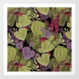 Cacti and succulent Art Print