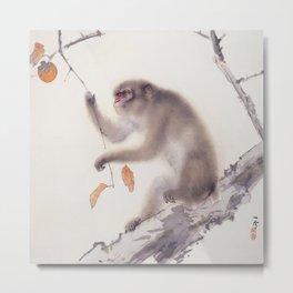 Monkey Vector After Hashimoto Kansetsu Metal Print