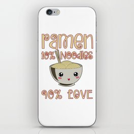 Ramen Love Japanese Noodle Soja Miso Soup Gift iPhone Skin