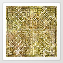 Gold Celtic Knot Square Art Print