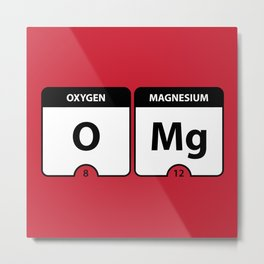 OMG Periodic Table Metal Print