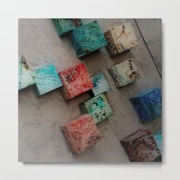 Single Ceramic Tiles Metal Print