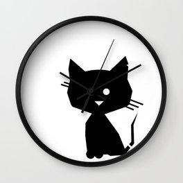 Black Cat Wall Clock