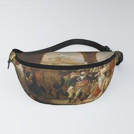 Auguste-Hyacinthe Debay - General Bonaparte Visiting the Plague-Stricken at Jaffa Fanny Pack
