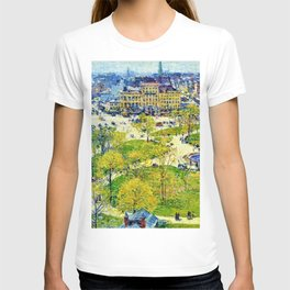 Classical Masterpiece 'Union Square in Spring' by Frederick Childe Hassam T-shirt