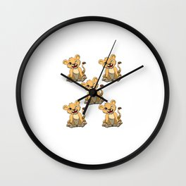I'm This Many Lions Old 5 Yr Five Puppy Lion Wall Clock