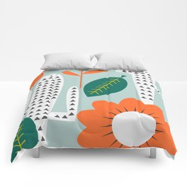 Modern cactus day Comforters