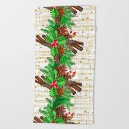 Christmas pine cones #3 Beach Towel