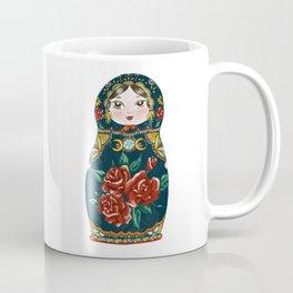 Intuition: Teal Matryoshka Doll Coffee Mug