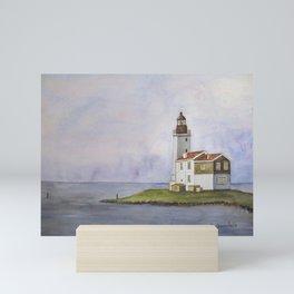 Noord Holland Lighthouse Mini Art Print