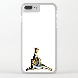 Two Cats And A Kitten Clear iPhone Case