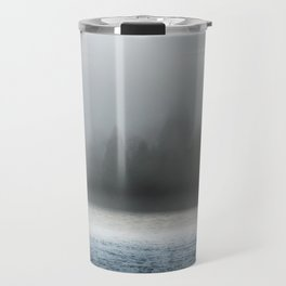 Remnant Of A Washed Out Bridge On A Foggy Afternoon Travel Mug