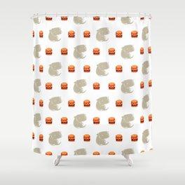 Sharkbark's Burgers - Pattern Shower Curtain
