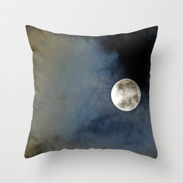 The bright side of the moon Throw Pillow