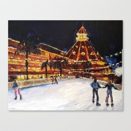 Hotel Del Coronado at Night Canvas Print