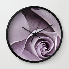 lavender rose Wall Clock