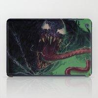 venom iPad Cases featuring Venom by MATT DEMINO