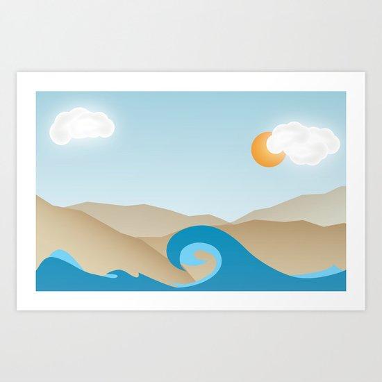 Beach Paradox Art Print