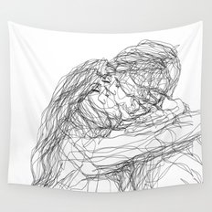 make-out? (B & W) Wall Tapestry