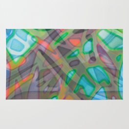 Colorful Abstract Stained Glass G299 Rug