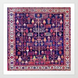 Bakhtiari Khan West Central Persian Rug Art Print