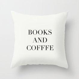 Books & Coffee Throw Pillow