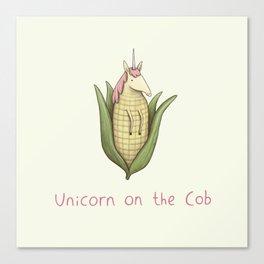Unicorn on the Cob Canvas Print