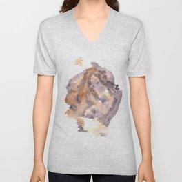 Soft Texture Watercolor | [Grief] Overwhelmed Unisex V-Neck