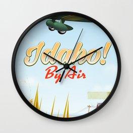 Idaho! By air Poster Wall Clock
