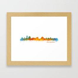 Jerusalem City Skyline Hq v2 Framed Art Print