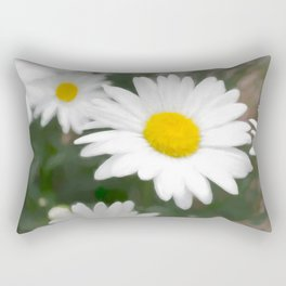 Daisies flowers in painting style 6 Rectangular Pillow