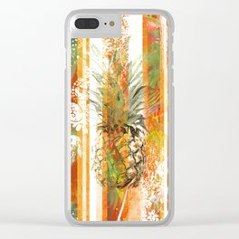 Pineapple grunge Clear iPhone Case