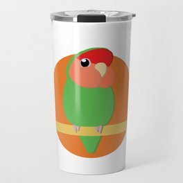 Peach Faced Lovebird Travel Mug