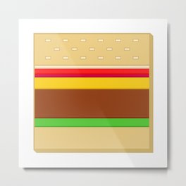 Box Hamburger Metal Print