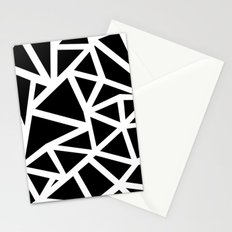 Ab Outline Thicker Black Stationery Cards