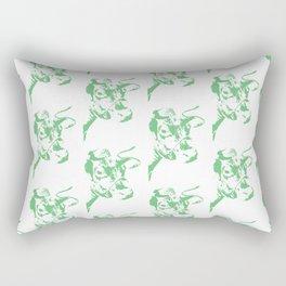 Follow the Herd Pattern - Green #637 Rectangular Pillow