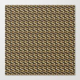 Grey Money Pattern Canvas Print