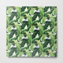 Tropical banana leaves Metal Print