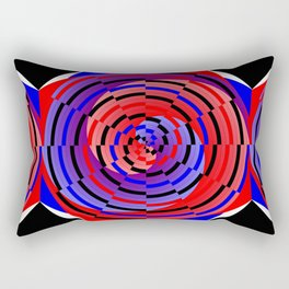 Red & Blue Counter Spiral Rectangular Pillow