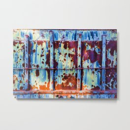 Colorful Rust Abstract II Metal Print