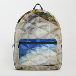 Geometric Cubism Eagle Oil Painting Backpack