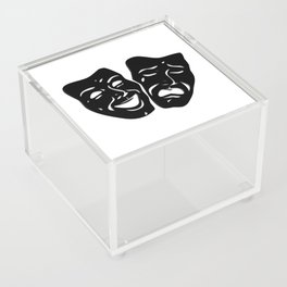 Theater Masks of Comedy and Tragedy Acrylic Box