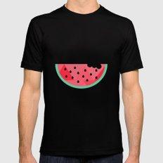 Watermelon Mens Fitted Tee MEDIUM Black