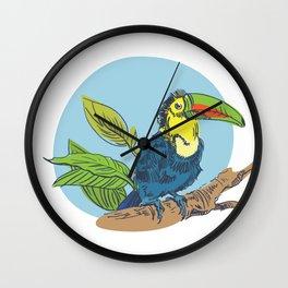 Tropical bird Wall Clock