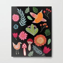 Flora & Fauna Of The Great Outdoors Metal Print