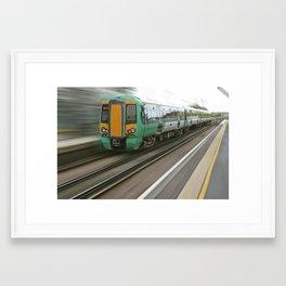 Train motion Framed Art Print