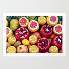 Watercolor Superfood Combo Art Print