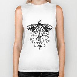 Luna Moth, Snakes, Third Eye, Witchy Illustration Biker Tank