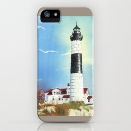 Big Sable Point Lighthouse iPhone Case
